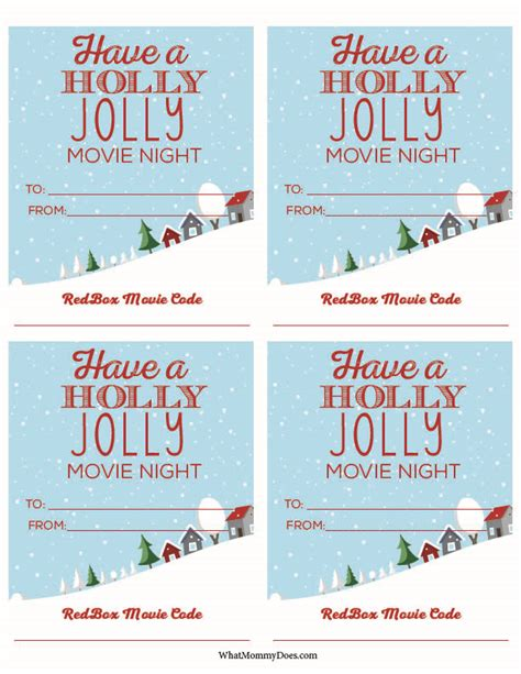 Printable Redbox Gift Cards - cute redbox neighbor christmas gift idea what mommy does