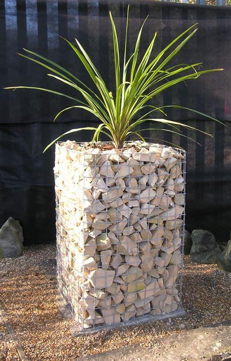 gabion planter gabions fence design