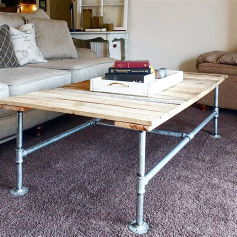 industrial coffee table diy industrial coffee table a and easy diy uncookie cutter coffee table inspirations