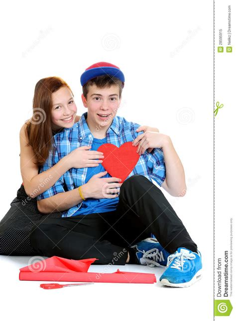 boy cut out stock photos pictures royalty free boy cut smiling teenage girl and boy holding a valentine cut out