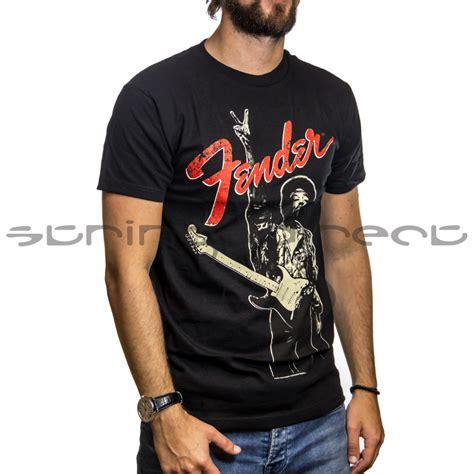 Kaos T Shirt Fender Black 01 fender fender small jimi quot peace sign quot t shirt