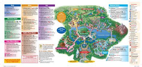 disney world maps disney s animal kingdom map orlando theme park talk