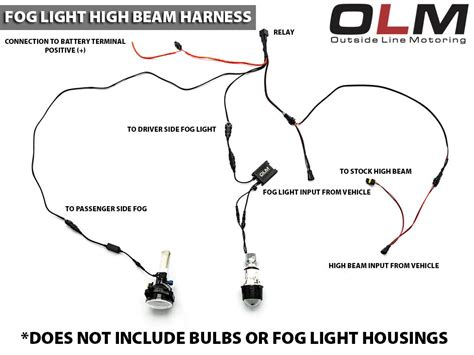 olm bixenon fog light and wiring harness for fog with high