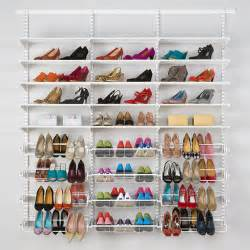 Our ultimate shoe storage solution from our modular elfa classic range