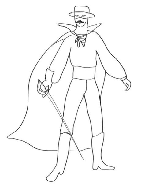 coloring pages for zorro coloring