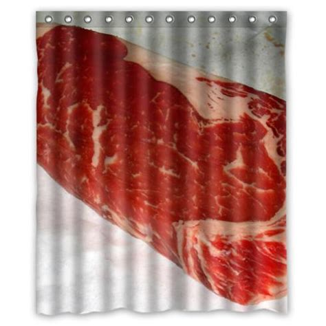 meat shower curtain beef food shower curtain 60 x 72 inch bathroom jpg
