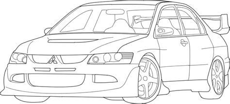 nissan 350z drawing mitsubishi car drawing coloring coloring pages