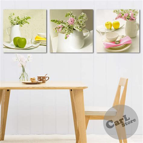green kitchen decor 3 pieces hot sell modern wall painting fresh green kitchen