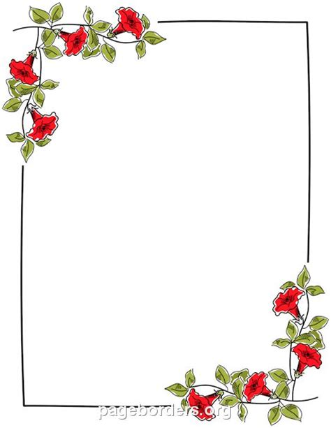 flower border template printable floral border use the border in microsoft word
