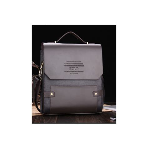 New Tas Model Polo Besar Tas Selang Pria Kulit Pu Tas Kerja Cow tas kantor selempang pria merk polo