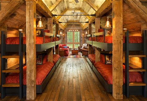 bunk room bunk house with rustic interiors home bunch interior design ideas