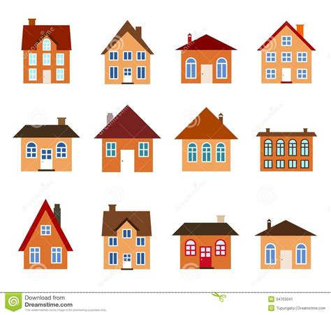 set houses drawings stock photo photo vector illustration cartoon homes stock vector illustration of cabin