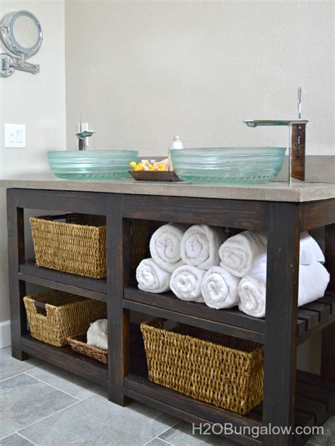 recycle stuff to make small diy bathroom vanities that