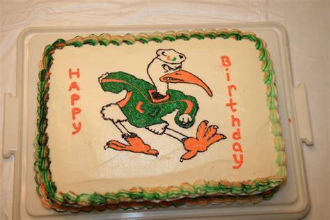 miami hurricanes the ibis birthday cake