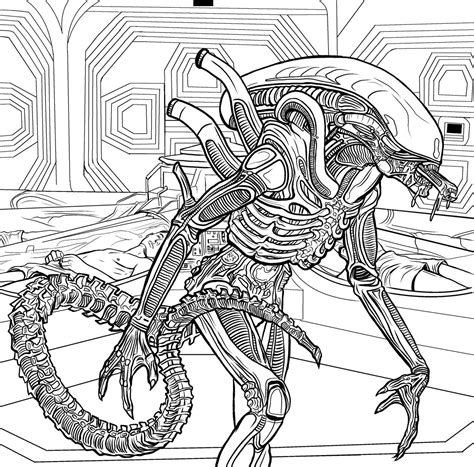 Xenomorph Coloring Page by The Coloring Book Color In Your Own Xenomorph Ign