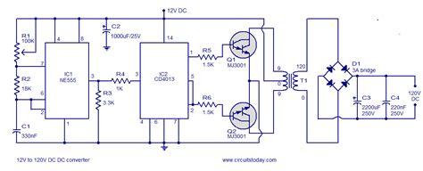 dc to ac converter circuit diagram 12v to 120v dc dc converter circuit diagram world