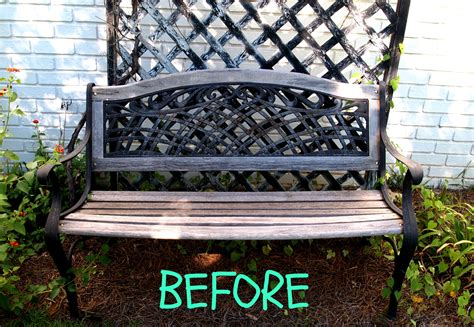 bench painting ideas a budget friendly garden makeover a cultivated nest