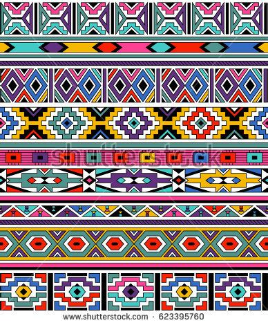set traditional african ndebele patterns vector stock ndebele stock images royalty free images vectors