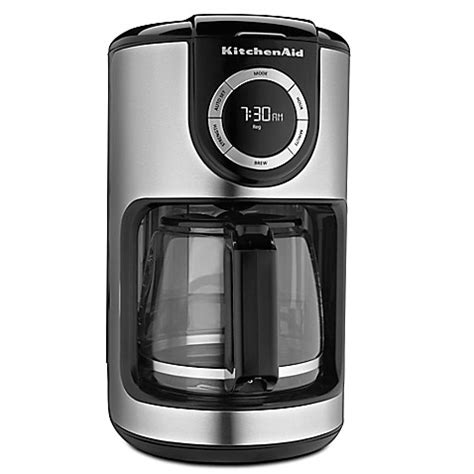 coffee makers at bed bath and beyond kitchenaid 174 12 cup glass carafe coffee maker bed bath