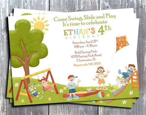 Park  Ee  Birthday Ee    Ee  Party Ee   Invitations