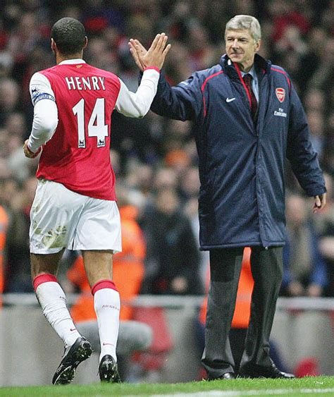 thierry henry best arsene wenger high fives thierry henry best pictures of