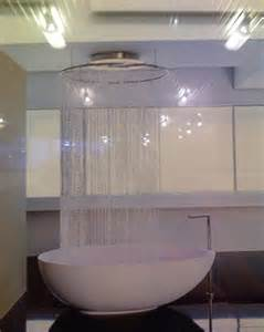 Freestanding Bath Shower Curtain Glass Beads For Shower Curtains Create Serious Drama In