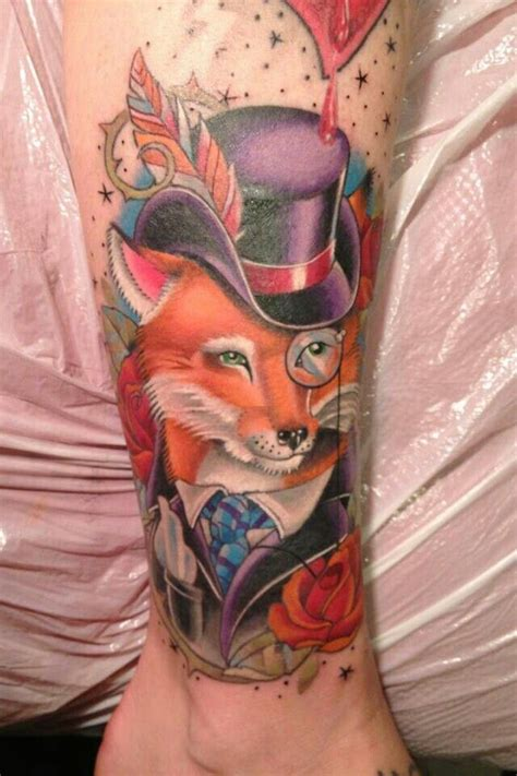 watercolor tattoos pennsylvania fox by junkins visual addiction carlisle