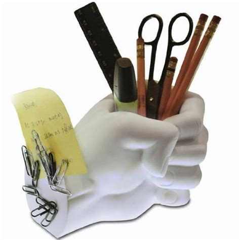 Decorative Pen Set Scissors And Tweezers pen holder with magnet stand by lilgift white