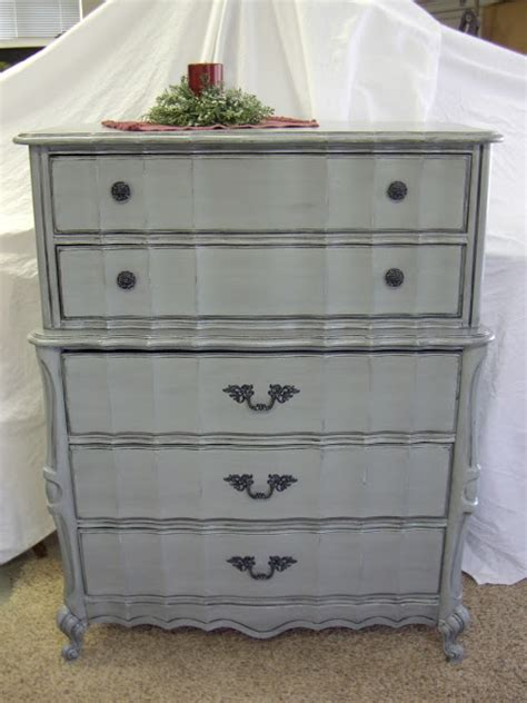 Gray Dresser by A Brush Of Whimsy Gray Nightstand