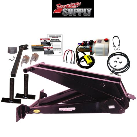 hydraulic bed lift kit 12 ton 24 000 lb dump trailer hydraulic scissor hoist