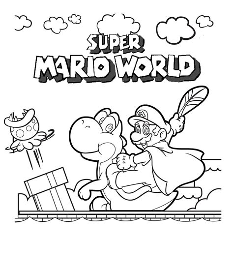 super mario coloring pages 4 coloring kids