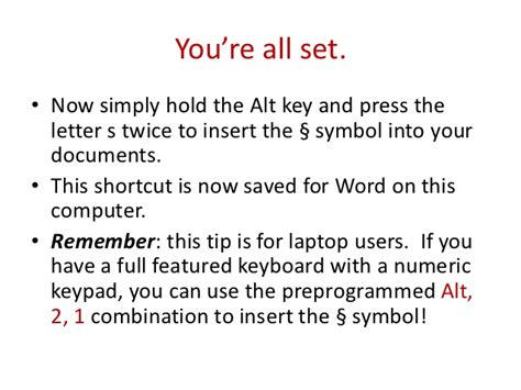 shortcut for section symbol in word how to add a word shortcut for the section symbol for
