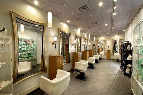 interior hair salon lighting ideas and antique mirror
