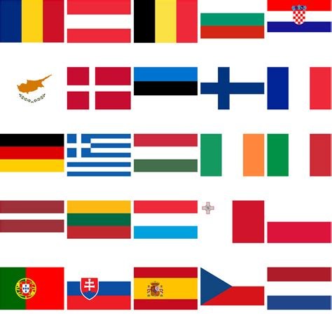 european union flag coloring page set of 28 flags of european union countries vector super