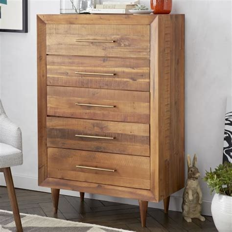reclaimed wood 5 drawer dresser west elm