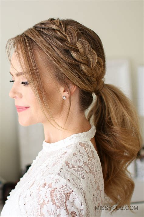 types of pony tail with a roll missy sue beauty style