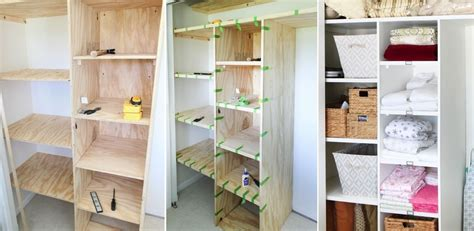 diy built in closet cabinets how to customize a closet for improved storage capacity