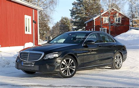 c class mercedes 2018 mercedes c class facelift spied with new