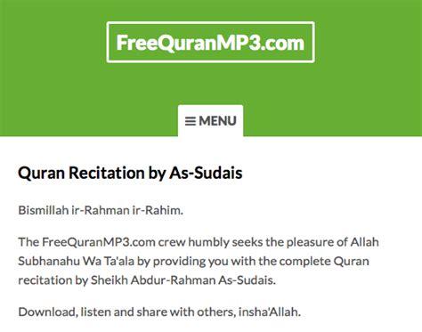 download free mp3 quran by sudais download quran recitation sudais mp3