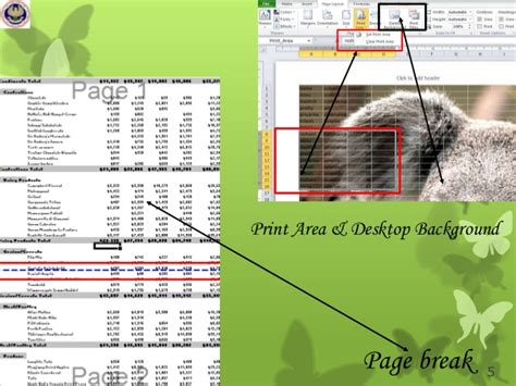 fungsi layout dan reset fungsi tab page layout ms excel 2007 fungsi menu dan