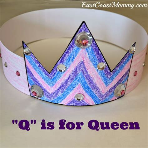 craft crown pictures alphabet crafts letter q presidents crowns and crown