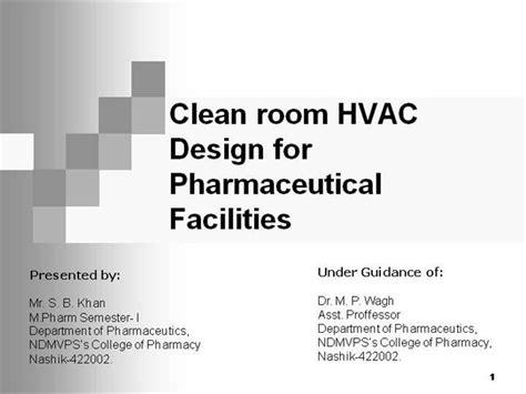 clean room design ppt hvac ppt authorstream