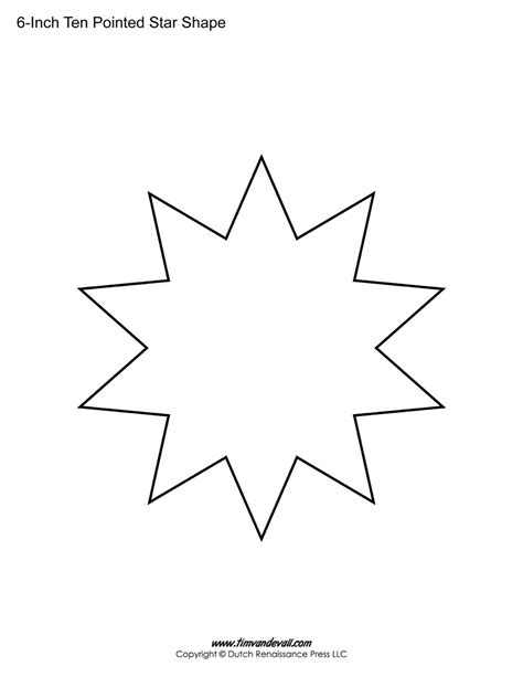 Star Template For Kids - Coloring Home