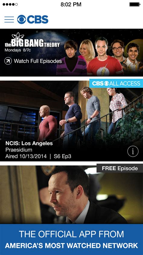 fans choice tv app new cbs app allows fans to watch full episodes of their