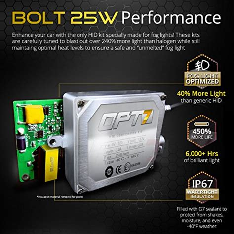 hid capacitor size opt7 bolt 25w ac h10 9140 9145 fog light hid kit w relay capacitor bundle all bulb sizes