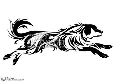 dog tribal tattoo golden retriever tribal design by avestra on deviantart