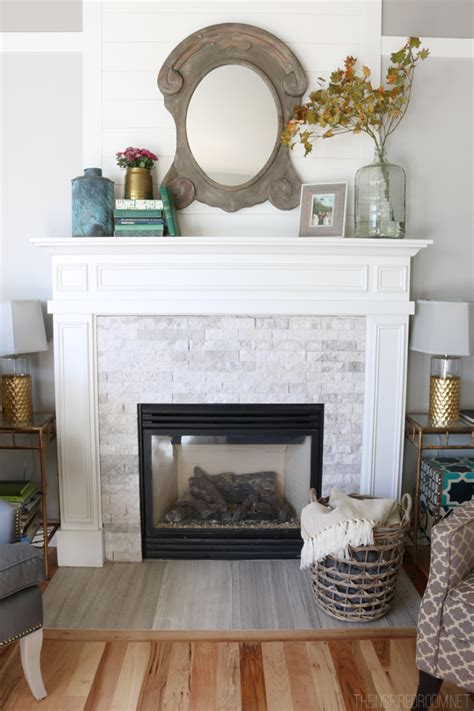 fireplace makeover    inspired room