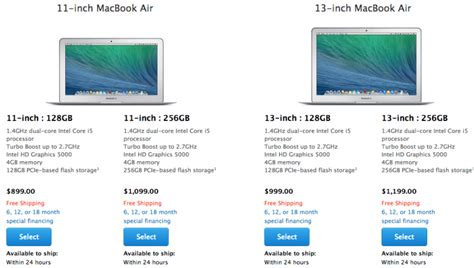 Macbook Air 11 2014 I5 apple updates macbook airs with faster haswell processors and 100 price drop updated mac rumors