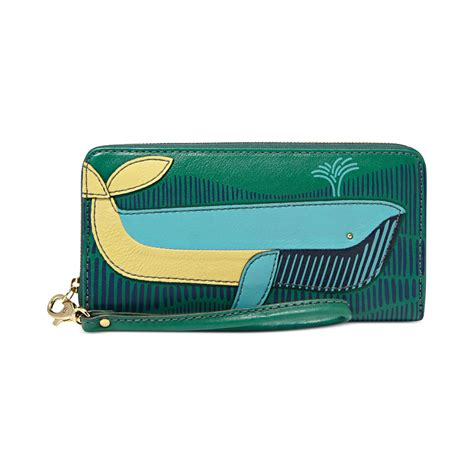 Dompet Fossil Sydney Zip Clutch Multi Wallet Authentic Original Fossil Sydney Leather Novelty Zip Clutch Wallet In