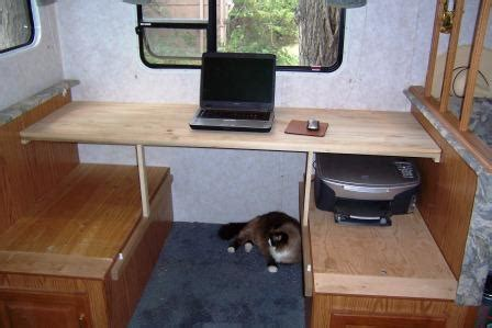 Rv Dining Table Replacement Creating An Rv Desk Out Of An Rv Dinette